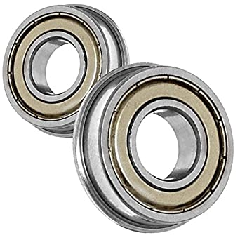 2 x F605zz Metal Double Shielded  Flanged  Ball Bearings 5mm*14mm*5mm