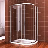 1200x800mm Quadrant Shower Enclosure Cubicle Door Right Entry+Stone tray +Free waste trap by sunny showers,ultra