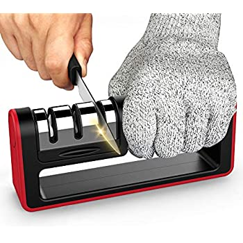 Amazon.com: Professional Knife Sharpener, 3 Stage Diamond ...