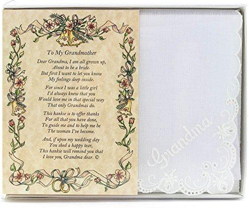 Wedding Collectibles Poetry Grandmother Handkerchief product image