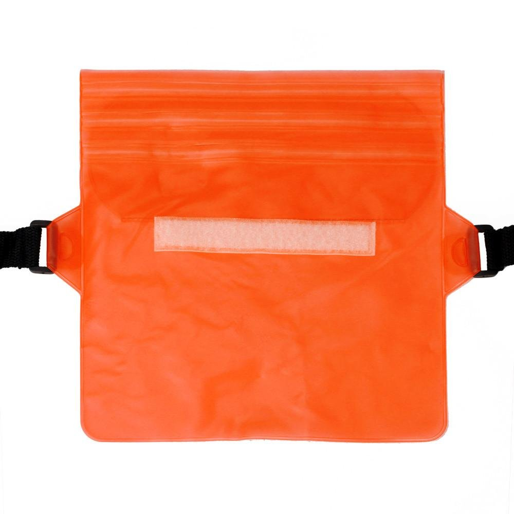 Start Sport Swimming Running Cycling Beach Waterproof Waist Belt Bag Items Dry Holder Strap Pouch (Orange)