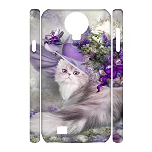 SamSung Galaxy S4 I9500 CAT 3D Art Print Design Phone Back Case DIY Hard Shell Protection FG060885