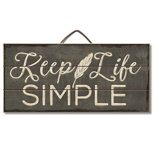 Highland Graphics Rustic Sign 'Keep Life Simple' Table or Wall Decor