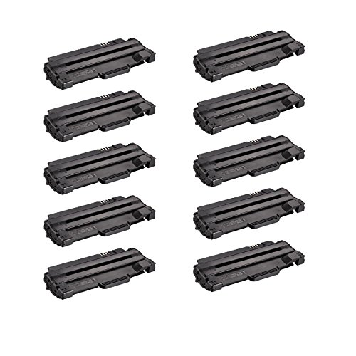 Compatible Toner to replace Dell 330-9523 (7H53W) High Yield Black Toner Cartridge for your Dell 1130,1135 Printer-10 Pack
