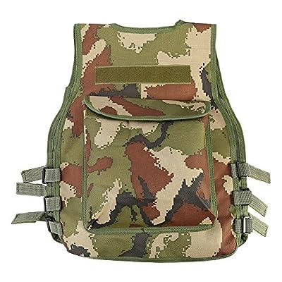 Tbest KidsTactical Vest,Children's Adjustable Outdoor Army Vest Jacket Clothing Combat Vest for CS Game(Camouflage)