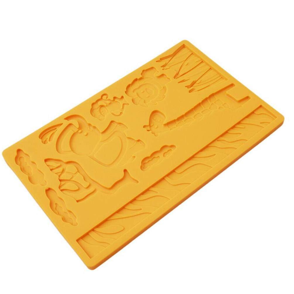 Oulensy 3D Spitze Zoo Jungle World Tiersilikon Pr/ägekuchenform DIY K/üche Bakeware Silikon-Kuchen-Werkzeug verziert Seifen-Form