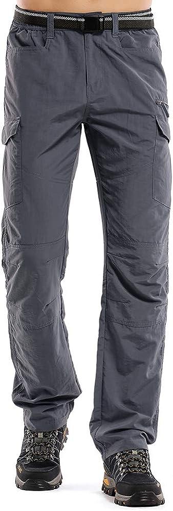 Jessie Kidden Mens Outdoor Hiking Trousers Lightweight Quick Dry UPF 50 Cargo Safari Fishing Climbing Camping Walking Pants