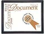 MCS Contour Document Frame Inch Black and Gold (70299)