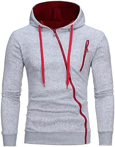 Men's Long Sleeve Hoodie Fashion Solid Hooded Sweatshirt Tops Jacket Coat Outwear Casual Pullover Outwear