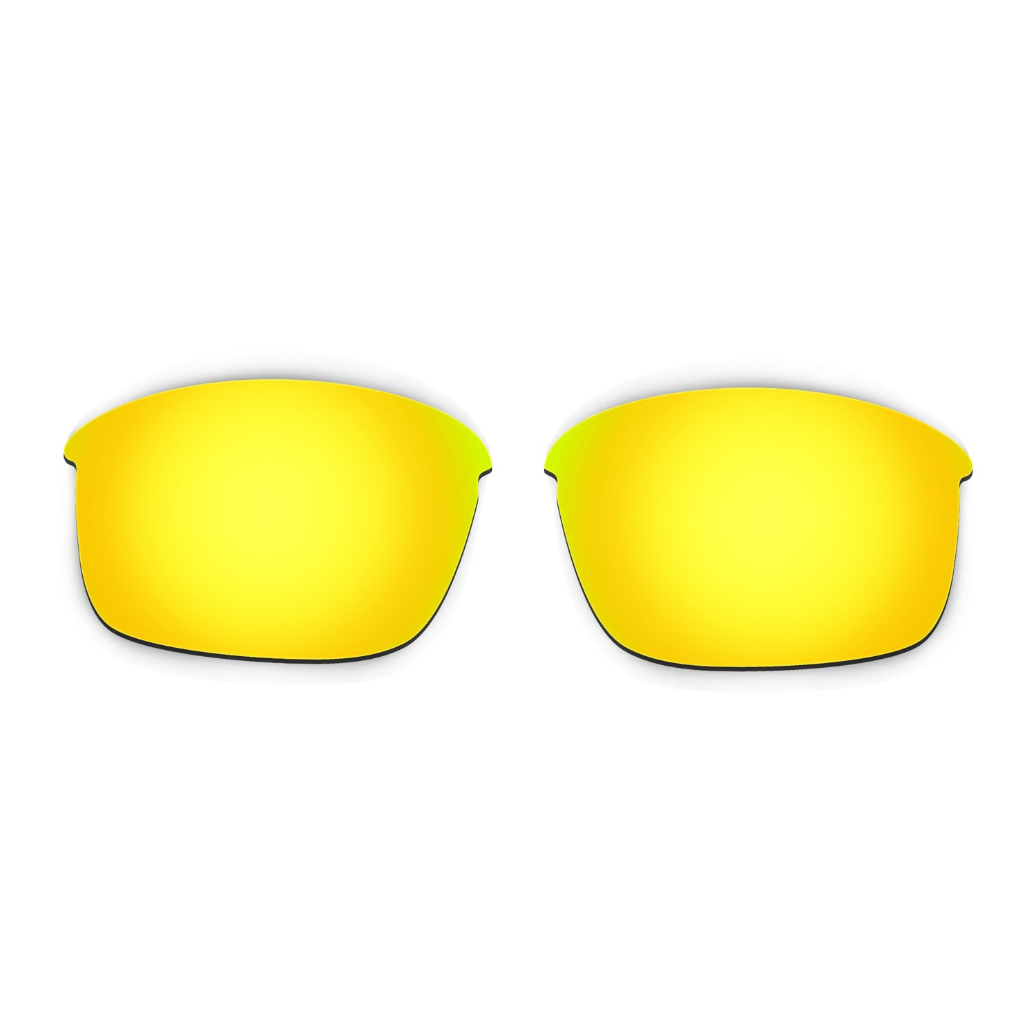 a05124b27d Amazon.com  Hkuco Mens Replacement Lenses For Oakley Bottle Rocket  Red Blue 24K Gold Emerald Green Sunglasses  Clothing