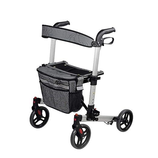 Walk Aid Andador de Aluminio con Asiento, Auxiliar para Caminar ...