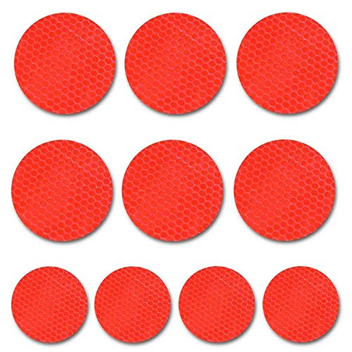 Round shape White Reflective Tape For Trucks Trailers Car Park Traffic Warning Caution Conspicuity Tape Waterproof Self-Adhesive Reflector Tape-Reflective Tape 20 packs