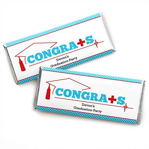 Personalized Nurse Graduation - Custom Medical Nursing Graduation Party Favors Candy Bar Wrapper - Set of 24 -