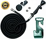 Vela Water Hose - 100 Ft Expandable Garden Hose - Hose Holder & High Pressure Washer Spray Nozzle with 9 Settings - Best As Seen on TV Heavy Duty Kink Free Flex Hose for Car Washing & Watering Hose