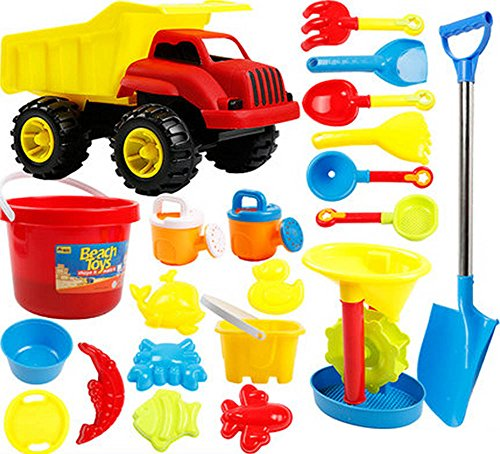 Kid's Beach Sand Toys Baths Pools Set 21PCS by Blancho Bedding
