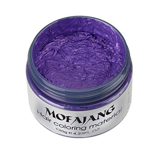 Fabal DIY Hair Clay Wax Mud Dye Cream Grandma Hair Ash Dye Temporary 7 Colors (G)