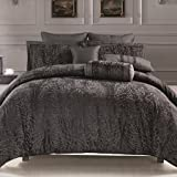Queen Size Duvet Cover Jacquard Pattern 88X90''-Leopard Collection