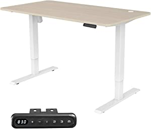MAIDeSITe Electric Height Adjustable Standing Desk,55''x28''Home Office Desk,Wood Modern Furniture for Living Room, Décor, Display (White)