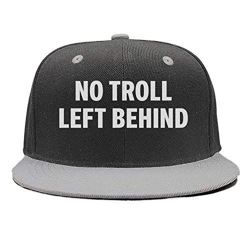 (Unisex Hip hop Cotton Trucker Cap-No Troll Left Behind Design Adjustable Fits Snapback hat Sport Cap)
