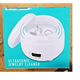 Ultrasonic Jewelry Cleaner - Best Diamond, Ring, Silver, Gold Jewelry Cleaner Machine - Cleans and Sanitizes Jewelry, Coins, and More with Ultrasonic Waves