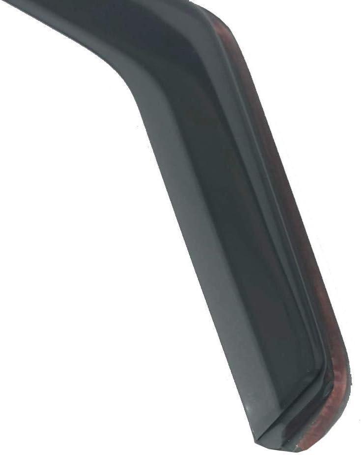 2x Deflectores de Aire Compatible con Audi A3 S3 RS3 2012-presente MK3 3-Puertas Derivabrisas protecci/ón sol lluvia nieve viento Vidrio acr/ílico PMMA de primera calidad