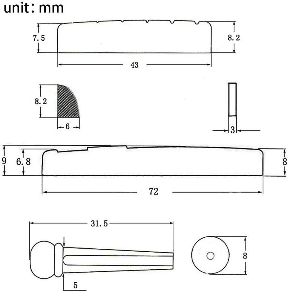 Extracteur Extraction Extracteur Outil Selle Noir 6 Pont Broches Sillet Guitare Acoustique Corde Pont Broche Cheville