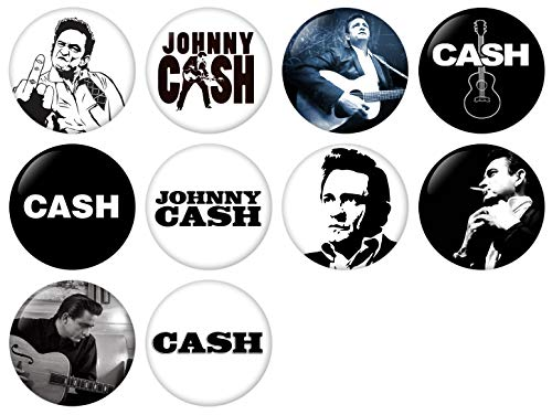 Johnny Cash Pinback Button Badge 1 Inch (25mm) Set, Pack of 10 New