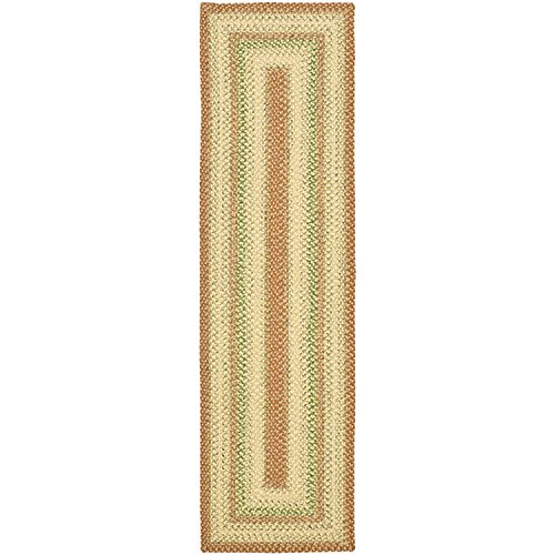 - Safavieh Braided Collection BRD303A Hand Woven Rust and Multi Area Rug (2'6