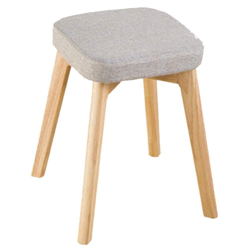 A Wood Small Stool, Fabric Square Stool Household Simple Leisure Stool Upholstered Stool, for Kitchen, Restaurant, Cafe, Bar (Size  37  37  46cm) (color   B)