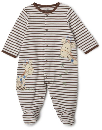 Little Me Hungry Giraffe Footie, Brown