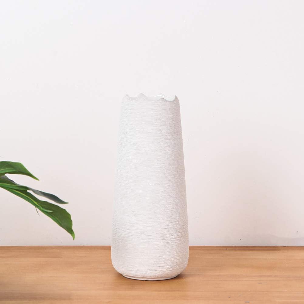 Hetoco 25cm Gris Decorativos Modernos Ceramica Jarrones de Flores para Mesa de Comedor Sala de Estar Idea Regalo para Cumplea/ños Boda Navidad