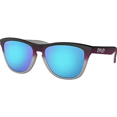 d40e69268b47 Oakley Men's Frogskins Non-Polarized Iridium Square Sunglasses, Black, ...
