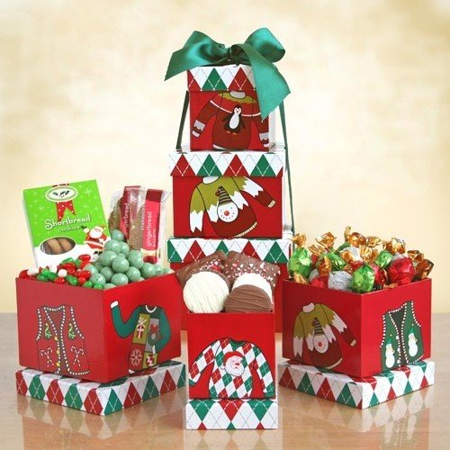 And a Happy New Year! Deluxe Christmas Collection Gift Basket