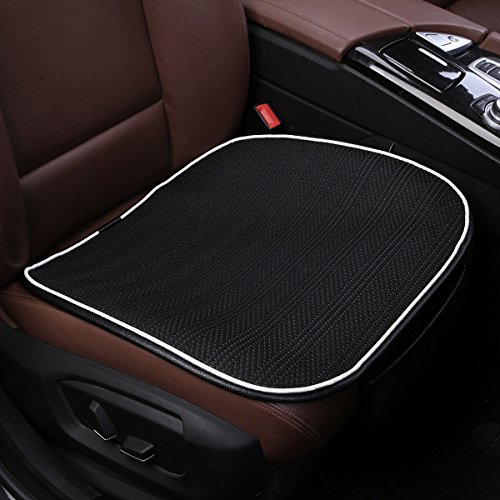 Car Seat Cushion,Breathable Comfort Car Drivers Seat Covers, Universal Car Interior Seat Protector Mat Pad Fit Most Car, Truck, Suv, or Van(Black Front Seat) (Best Car Fabric Protector)