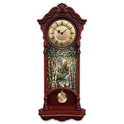 Thomas Kinkade Light Up Stained Glass Two Feet High Clock With 4 Hour Timer by The Bradford Exchange ()