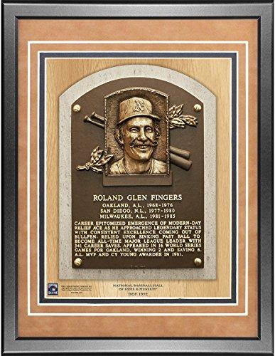 Rollie Fingers 11x14 Framed Baseball Hall of Fame Plaque