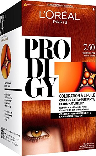 loreal coloration prodigy 740 vermillon cuivr raffin - Prodigy Coloration