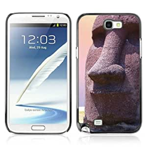 Designer Depo Hard Protection Case for Samsung Galaxy Note 2 N7100 / Easter Island Statue