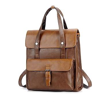 64328e5735c1 Amazon.com: Xiejuanjuan Men's Handbags PU Leather Backpack School ...