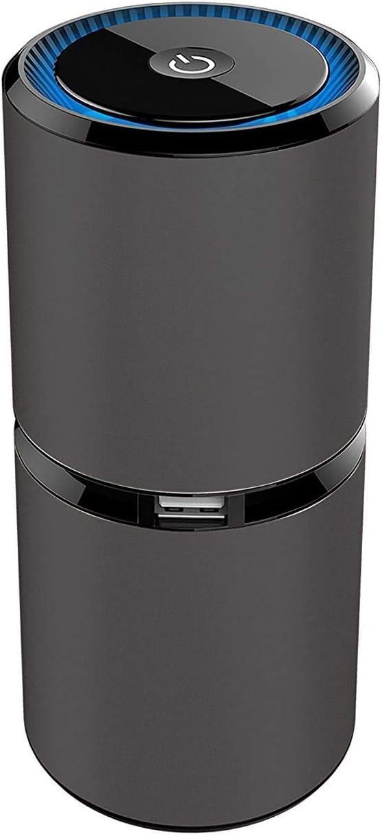 Zeerkeers purificador de Aire, Mini generador de ozono portátil Recargable USB de desinfección de Aire, Filtro de Aire para detectar alergias, Polvo, Humo, caspa, Olor, PM2.5