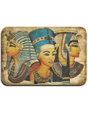 Ancient Egyptian Parchment Soft Comfort Flannel Indoor Mats Rugs,Anti-Skid Multi-Use Doormat Super Absorbent Washroom Mat Toilet,Kitchen Floor Mats Washable Home Decor Carpets