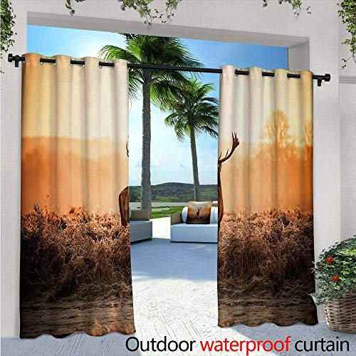 Hunting Outdoor- Free Standing Outdoor Privacy Curtain W84