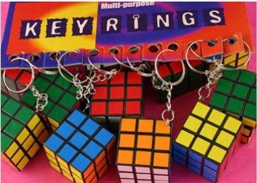 1 x puzzle cube porte-clés jouet casse-tête pour sacs festifs, pinata, etc