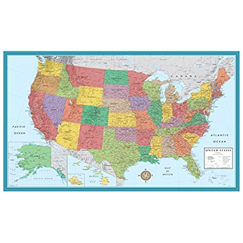 Large us map poster boatremyeaton large us map poster gumiabroncs Images
