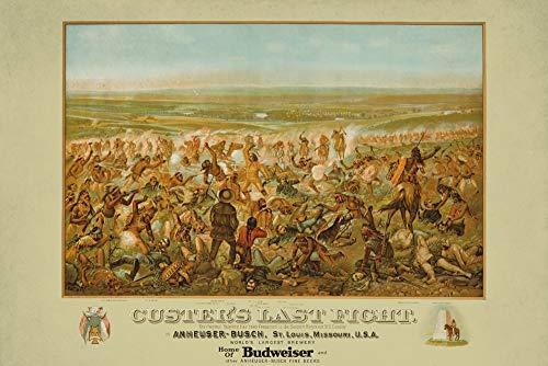 Custer's Last Fight - Anheuser Busch Budweiser - (artist: Becker c. 1936) - Vintage Advertisement (12x18 Art Print, Wall Decor Travel Poster)