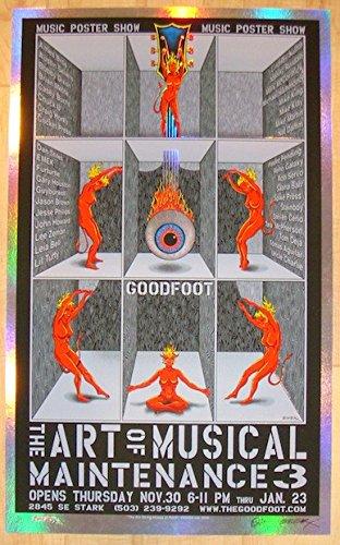 2006 Art of Musical Maintenance 3 Foil Variant Show Poster Emek (Foil Musical)