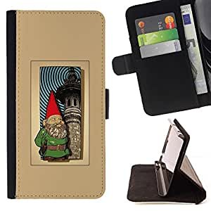 Momo Phone Case / Flip Funda de Cuero Case Cover - Jardín Marrón de oro impresiones - Sony Xperia Z1 Compact D5503