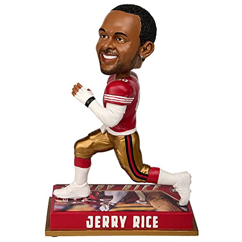 "FOCO NFL San Francisco 49ers Jerry Rice #80 Retired Player Bobble, 8"", Team Color"