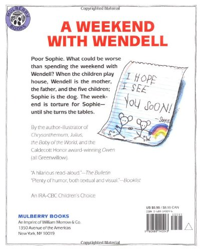 A Weekend with Wendell: Kevin Henkes: 9780688140243: Amazon.com: Books