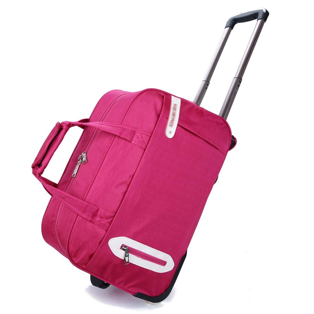 Travel Bags Trolley Case fold Male High Capacity Waterproof Luggage Suitcases Carry On Hand Luggage Durable Hold Tingting Color : Pink, Size : 302648